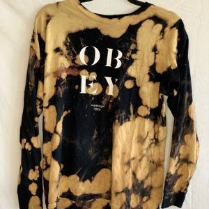 OBEY Long Sleeve Bleached T-Shirt